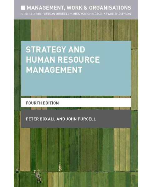 Strategy and Human Resource Management (New) (Paperback) (Peter Boxall) - image 1 of 1