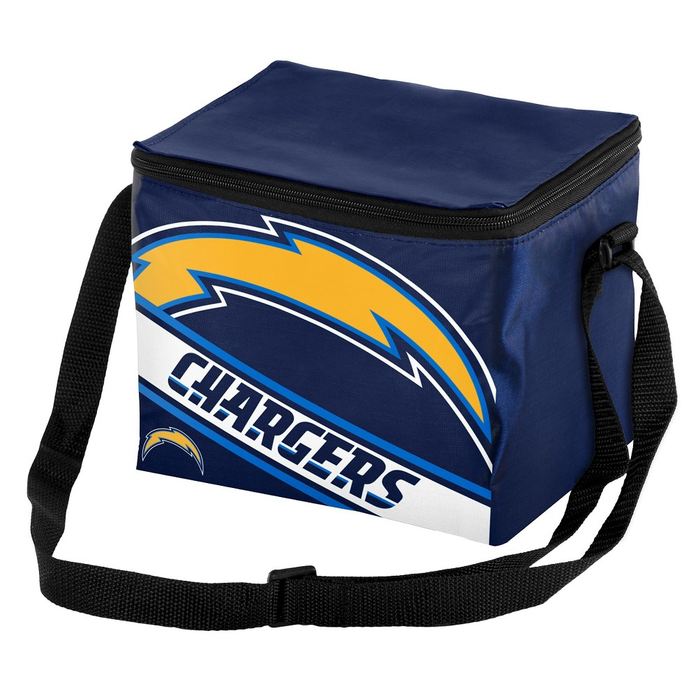 Los Angeles Chargers Forever Collectibles Big Logo Striped 6-Can Cooler