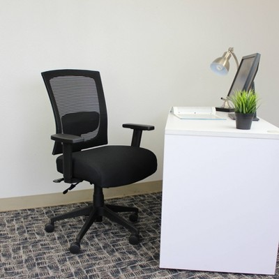 Multi - Function Mesh Back Chair Black - Boss