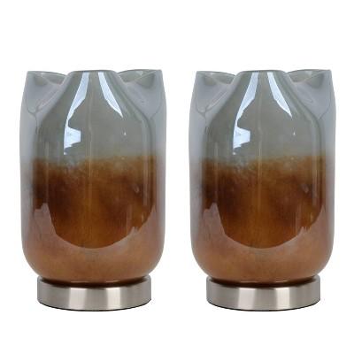 Set of 2 Winslow Art Glass Uplight - Decor Therapy