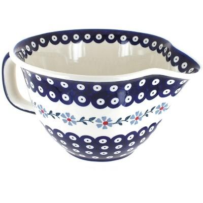 Blue Rose Polish Pottery Blue Violet Batter Bowl