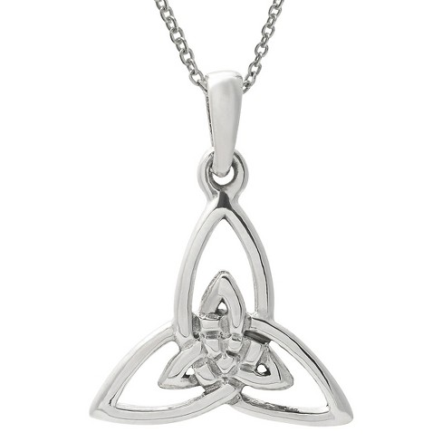 "Women's Journee Collection Double Celtic Triskel Pendant Necklace in Sterling Silver - Silver (18"") - image 1 of 2"