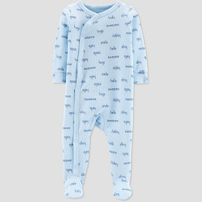 Baby Boys' Thermal Printerlock Sleep 'N Play - Just One You® made by carter's Blue Newborn