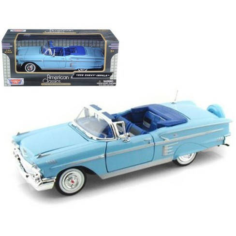 1958 Chevrolet Impala Blue 1/24 Diecast Model Car by Motormax - image 1 of 1