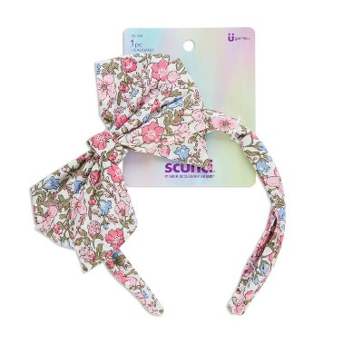 scunci Kids Bow Floral Headband - Pink Floral