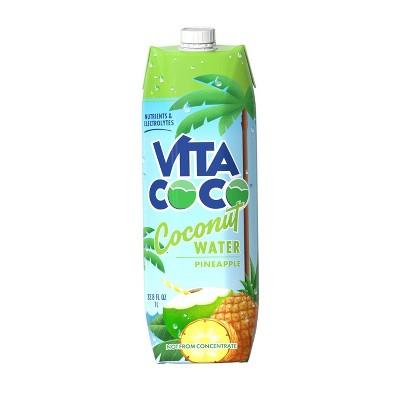 Vita Coco Pineapple Coconut Water - 1 L Carton