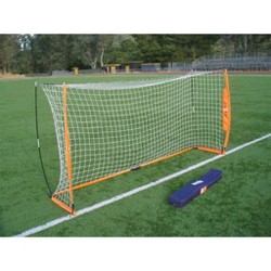 Bownet 6 Foot x 12 Foot Portable Youth Training Practice Soccer Goal, Orange