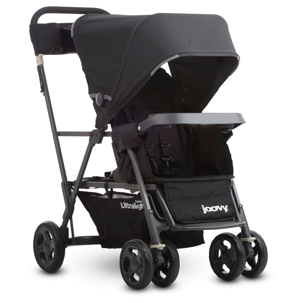 Image of Joovy Caboose Ultralight Graphite Stroller - Black