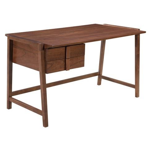 Mid-Century Modern Desk Walnut - ZM Home - image 1 of 4