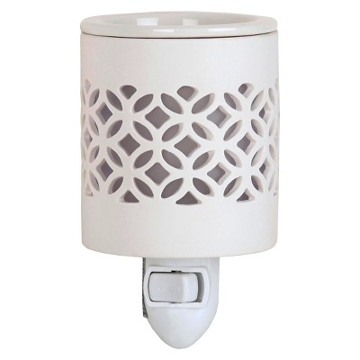 Plug-In Fragrance Warmer Lattice White - Home Scents By Chesapeake Bay Candle