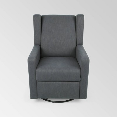 Hounker Contemporary Swivel Recliner - Christopher Knight Home