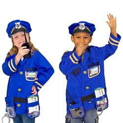 Melissa & Doug Police Officer Role Play Costume Dress-Up Set (8pc)