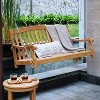 Sherwood Teak Porch Swing with Stainless Steel Chain - Cambridge Casual - image 4 of 4