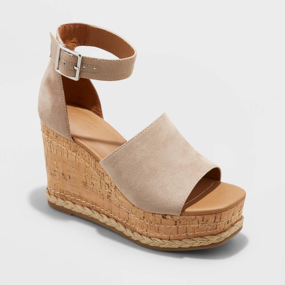 Women 39 S Julianna Cork Wedge Heels Universal Thread 8482 Gray 12