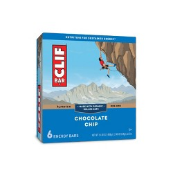 CLIF Bar Chocolate Chip Energy Bars - 6ct