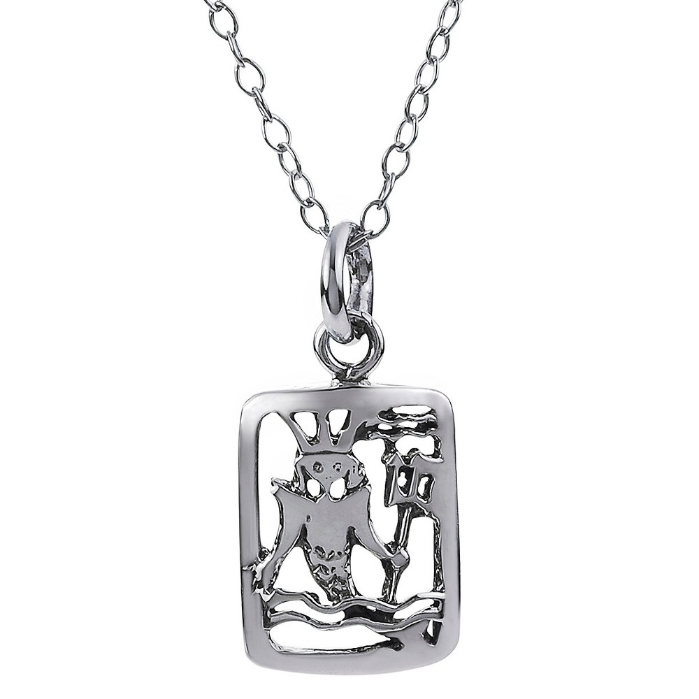 Women's Journee Collection Zodiac Sign Necklace in Sterling Silver - Silver (18), Aquarius