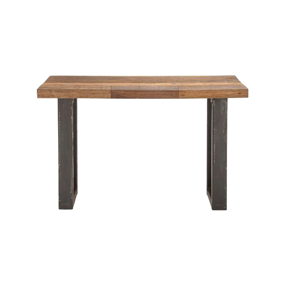 Simply Natural Wood Metal Console Table, Brown