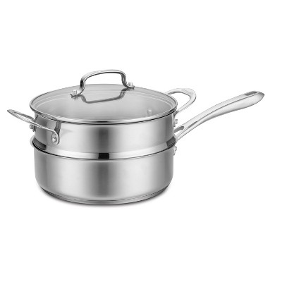 Cuisinart Classic 3.5qt Stainless Steel Saute & Steamer Set with Helper Handle and Cover - 83-3