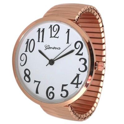 Olivia Pratt Super Large Face Stretch Strap Watch