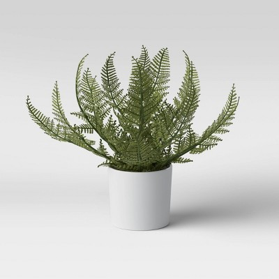 "8"" x 11"" Artificial Fern Arrangement in Pot - Threshold™"