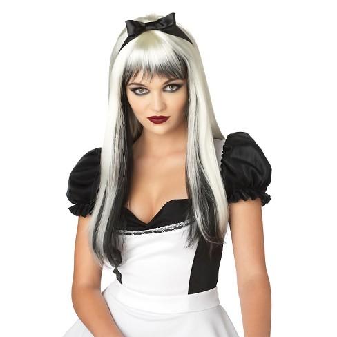 Women's Enchanted Tresses Wig Black/White - image 1 of 1
