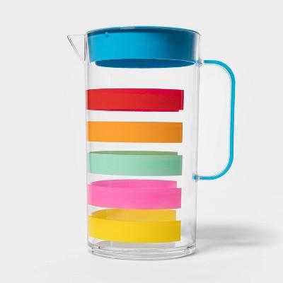 82oz Plastic Multi-Stripe Beverage Pitcher - Sun Squad™