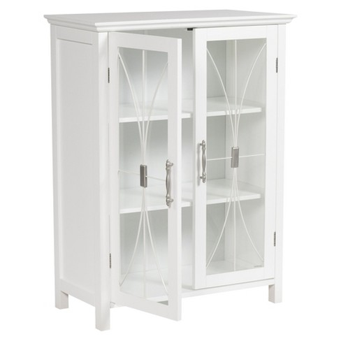 5c7541d2207c3 Fashions Symphony 2 Door Floor Cabinet White - Elegant Home Fashions ...