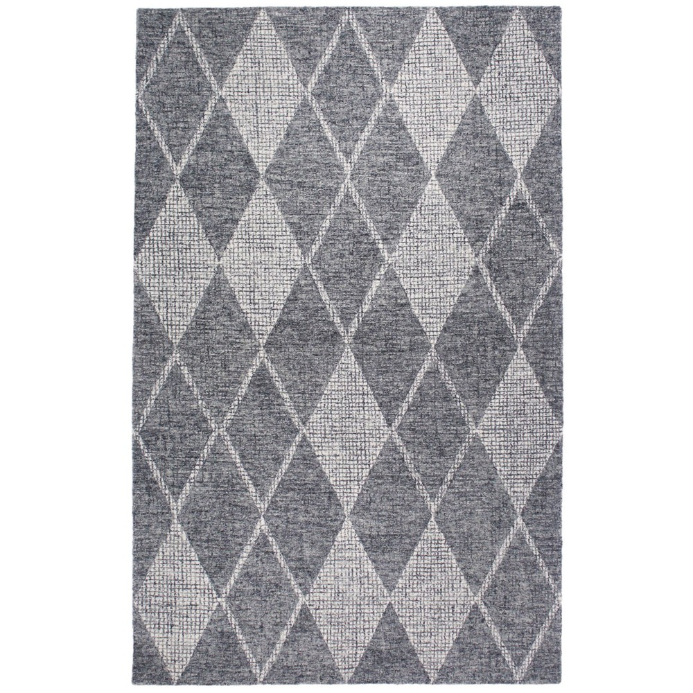 "Image of ""7'6""""X9'6"""" Diamond Tufted Area Rug Gray - Liora Manne"""