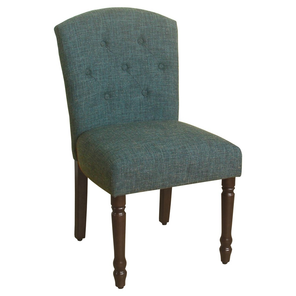 Delilah Button Tufted Dining Chair Teal Homepop