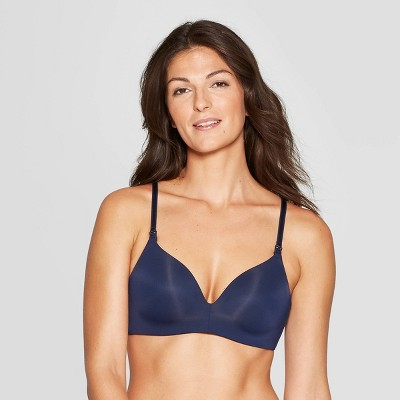 Women's Nursing Wirefree Bra - Auden™ Smart Blue 38DD