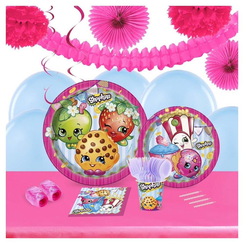 Shopkins 16 Guest Party Pk with Decoration Kit, Pink