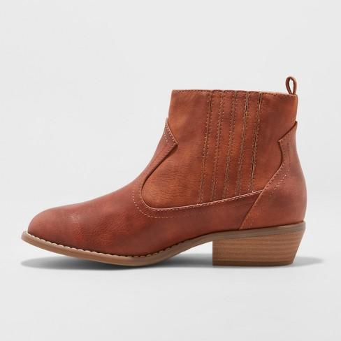 Women s Western Wide Width Ankle Boots - Universal...   Target 31fd10a0242