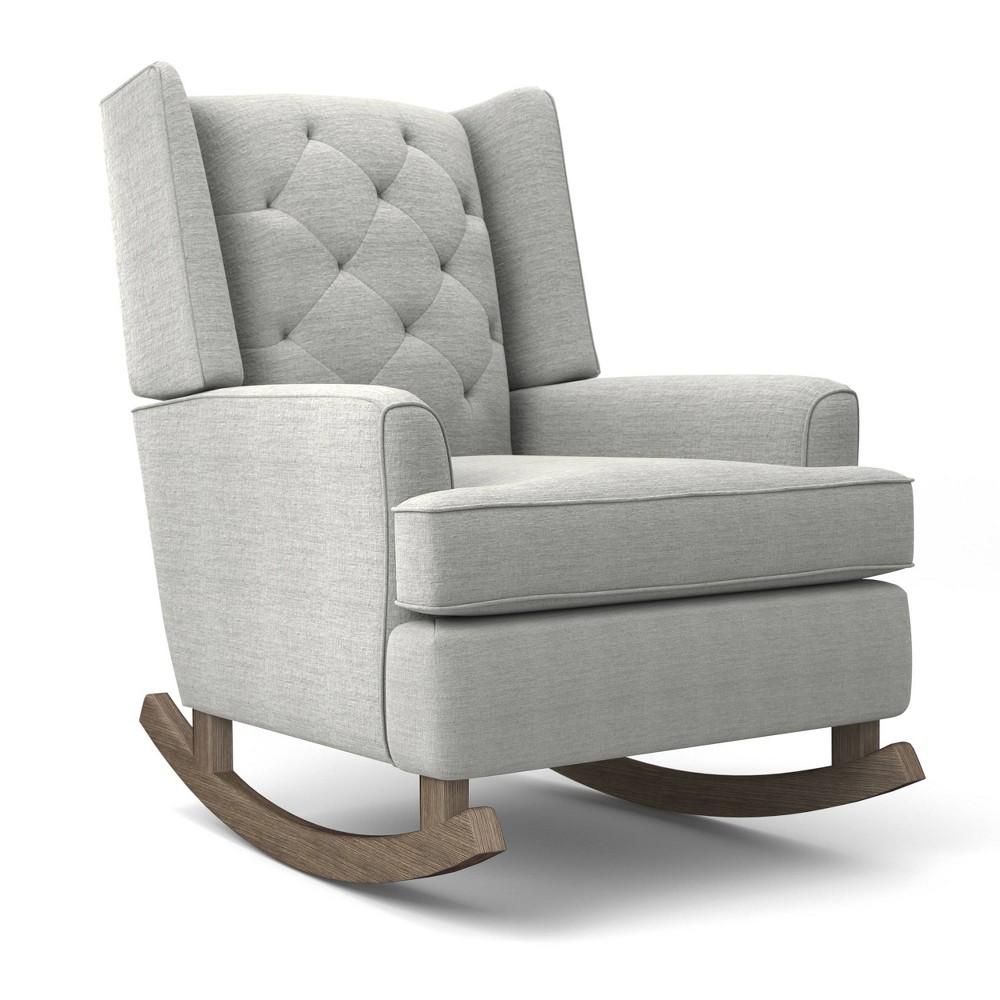 Image of Best Home Furnishings Ames Upholstered Runner Rocker - Cloud