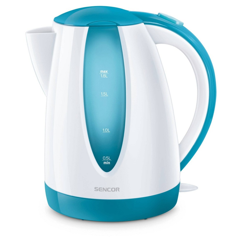 Sencor 1.8L Electric Kettle - Turquoise Cordless electric kettles by Sencor heats water twice as fast as stove top, offering better speed, convenience, energy efficiency and safety! This electric kettle comes with a 360 degree swivel and bright finish. Color-coordinate with other kitchen electrics by Sencor to create a beautiful kitchen with European design touch! Color: Turquoise. Gender: unisex.