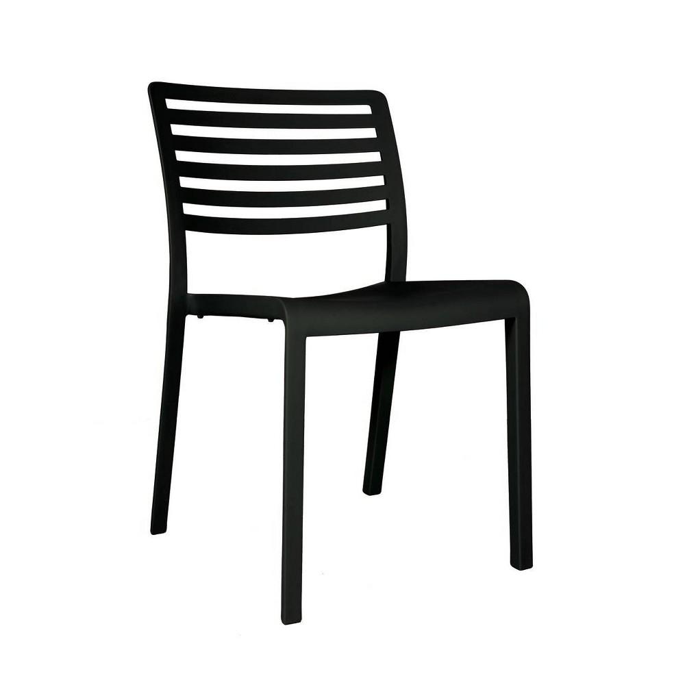 Image of Lama 2pk Patio Chair - Black - RESOL