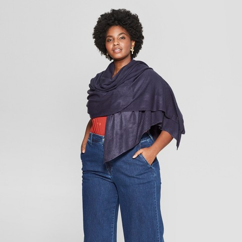 Women's Rib Wrap - A New Day™ Navy - image 1 of 2