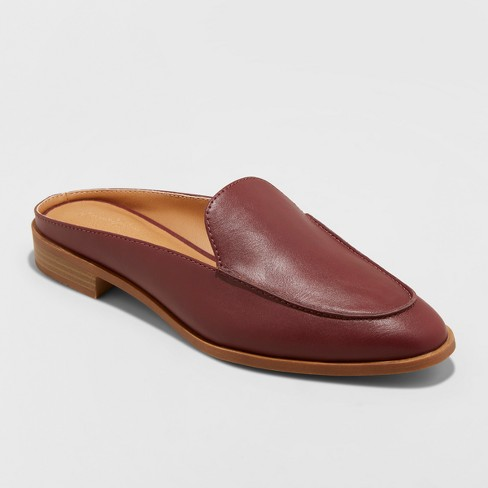 f9dd3a0bc30 Women s Amber Backless Loafer Mules - Universal Thread™ Burgundy 12 ...