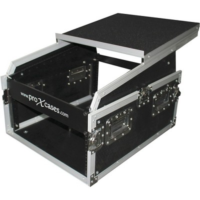 ProX 6U Rack x 13U Top Mixer DJ Combo Flight Case with Laptop Shelf