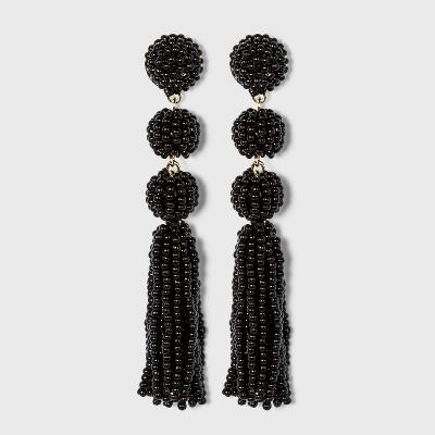 SUGARFIX by BaubleBar Beaded Ball Drop Tassel Earrings