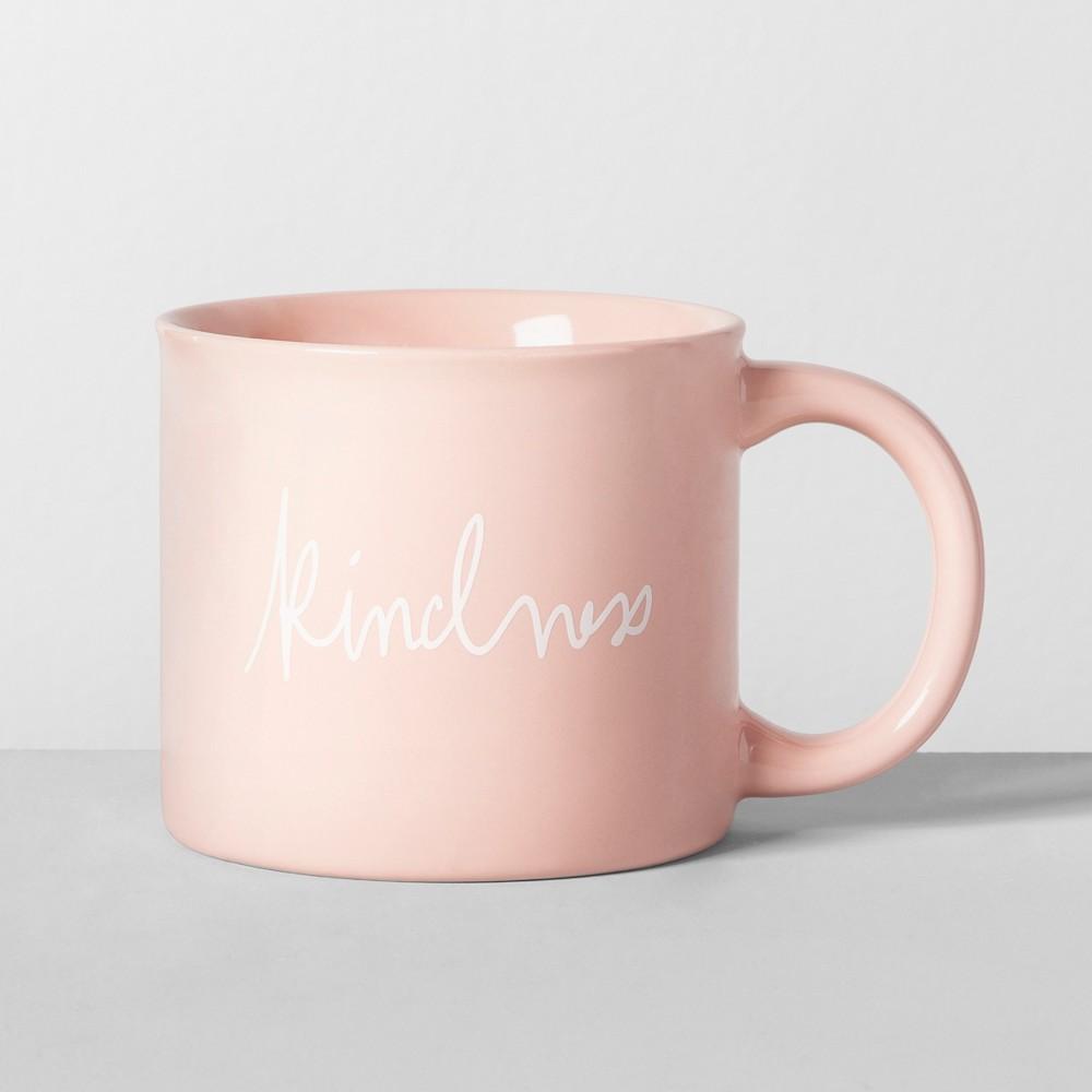 16oz Porcelain Kindness Mug Pink - Opalhouse