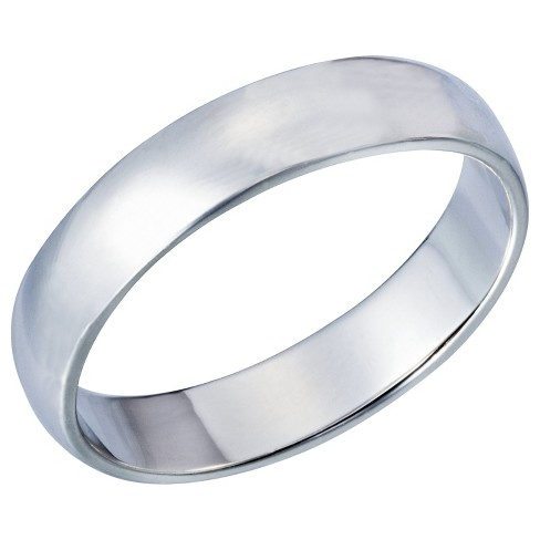 Domed Silver Plated Ring Band - Size 8 - image 1 of 1