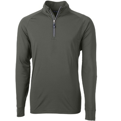 Cutter & Buck Adapt Eco Knit Stretch Recycled Mens Big and Tall Quarter Zip Pullover Jacket