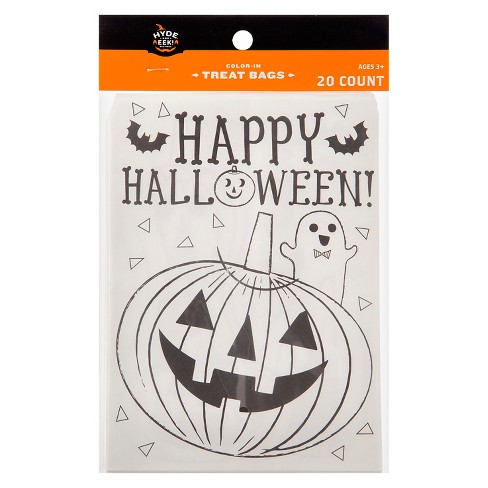 20ct Happy Halloween Color-In Treat Bags - Hyde and Eek! Boutique™ - image 1 of 2
