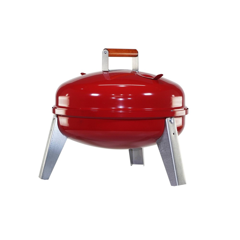 Image of Americana 2010 Lock & Go Charcoal Grill - Red - Meco