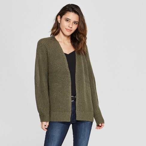 Women's Long Sleeve Relaxed Open Layering - Universal Thread™ - image 1 of 3