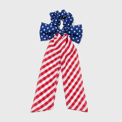 Stars and Stripes Bow Hair Twister with Tails