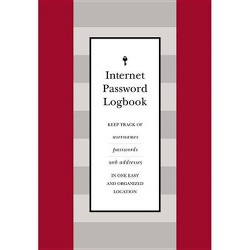 Internet Password Logbook (Red Leatherette) - (Hardcover)