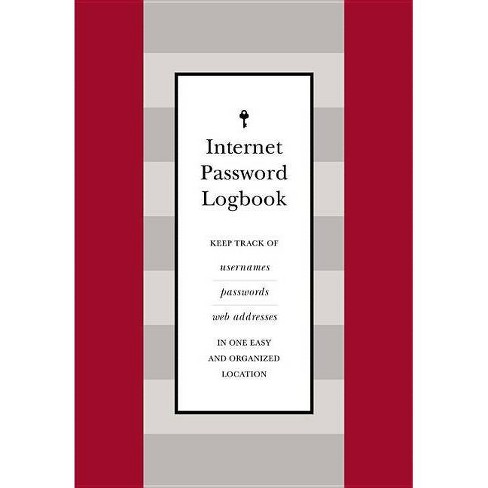 Internet Password Logbook (Red Leatherette) - (Hardcover) - image 1 of 1