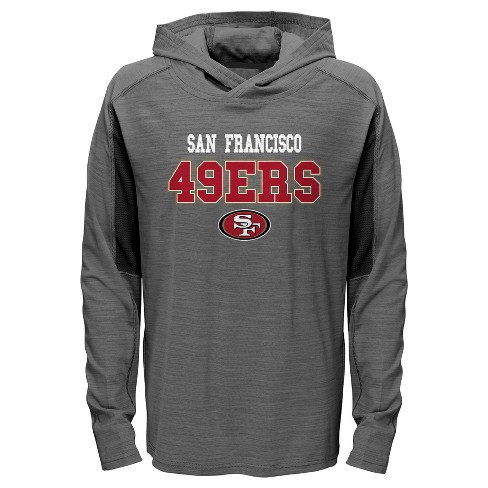 a31c581b0 NFL San Francisco 49ers Boys  Sideline Speed Gray Lightweight Hoodie ...