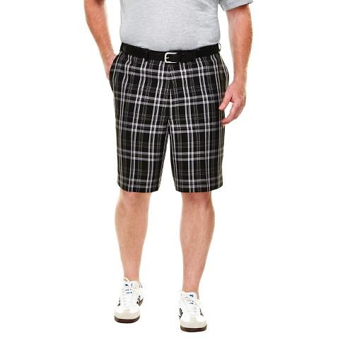 Haggar H26 - Men's Big & Tall Classic Fit Plaid Performance Shorts - image 1 of 2